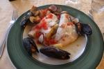 Abborfilet (Sea Bass) til middag ved Gardasjøen