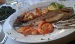 Grillet fisk til lunch i Trieste